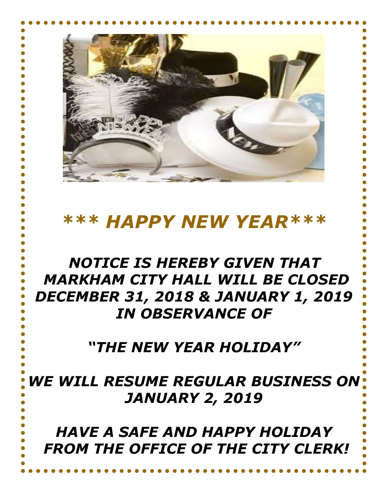 New Year Closing Flyer
